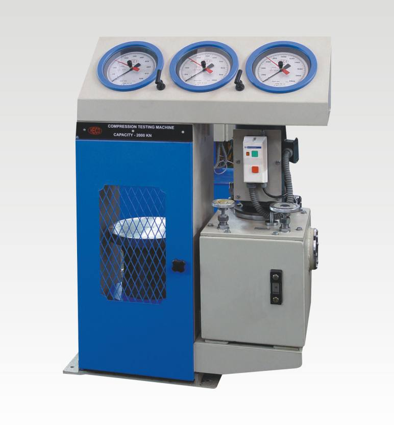 compression testing machines with single gauge