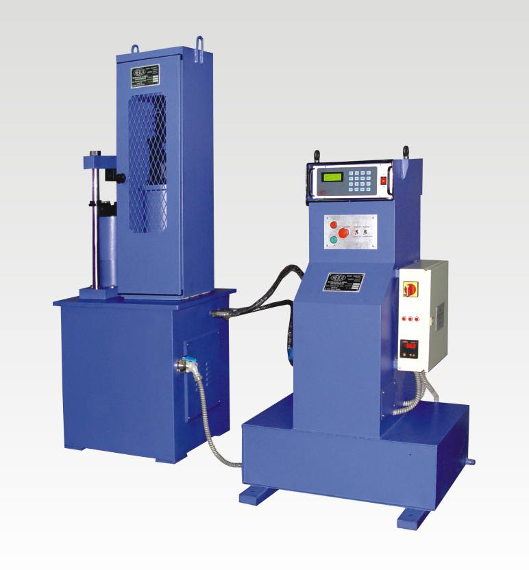 servo controlled compression testing machine with diital readout unit
